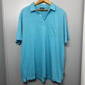 Patagonia Blue Striped Short Sleeve Polo Shirt